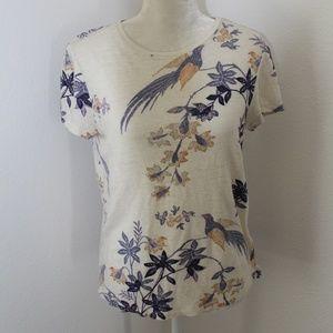 Tory Burch Bird T-Shirt Medium EUC
